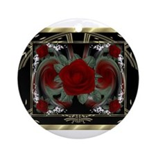 HnH Floral February Ornament (Round)