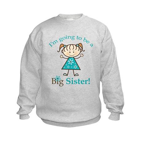 Big Sister To Be Stick Figure Kids Sweatshirt