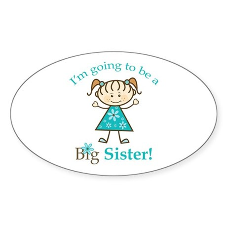 Big Sister to be Sticker (Oval 50 pk)