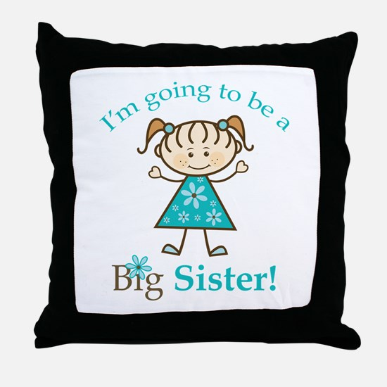 Big Sister to be Throw Pillow