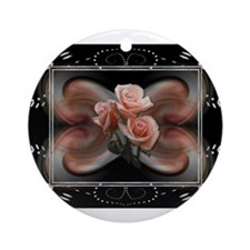 HnH Floral July Ornament (Round)