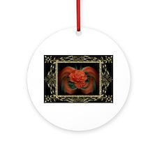HnH Floral September Ornament (Round)