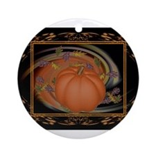 HnH Floral October Ornament (Round)