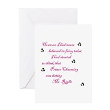 Cute Mr right and mrs always right Greeting Card
