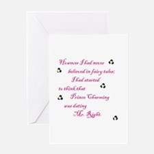 Cute Mr right Greeting Card