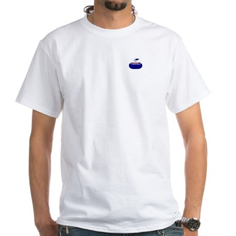 """""""I'd rather be curling"""" White T-Shirt"""