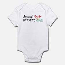 Mommy's Devil, PawPaw's Angel Infant Bodysuit