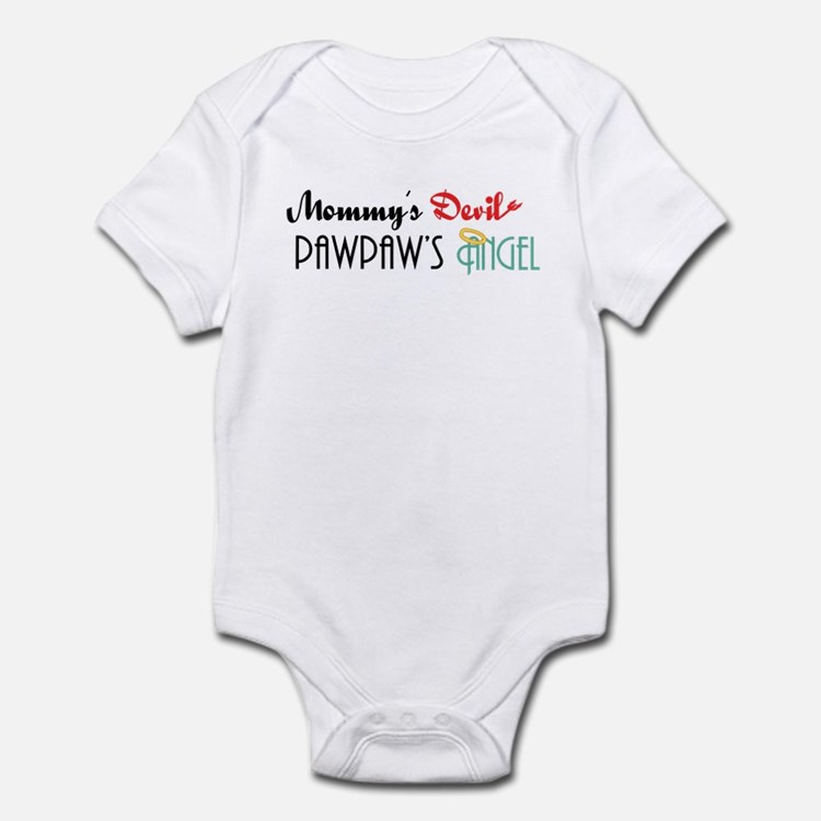 Mommy's Devil, PawPaw's Angel Infant Bodysuit