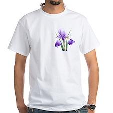 Logo back, small iris white T-shirt