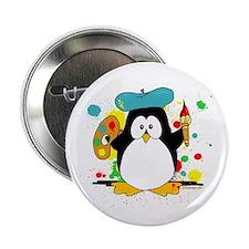 "Artistic Penguin 2.25"" Button (10 pack)"
