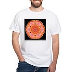 Orange Tulip I White T-Shirt