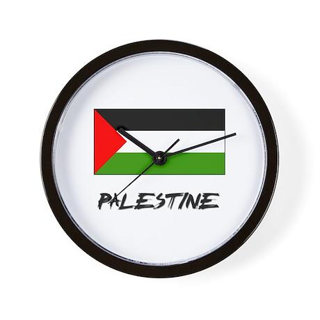 Palestine Flag Wall Clock