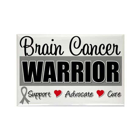 Brain Cancer Warrior Rectangle Magnet (10 pack)