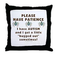 Autism Bug Throw Pillow