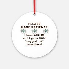 Autism Bug Ornament (Round)