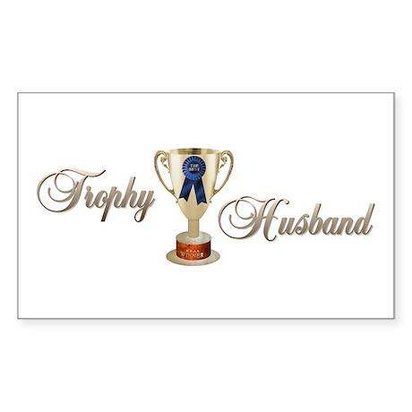 Trophy Husband Rectangle Sticker