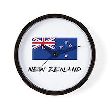 New Zealand Flag Wall Clock
