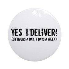 Funny Obstetrician Ornament (Round)