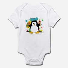 Artistic Penguin Infant Bodysuit
