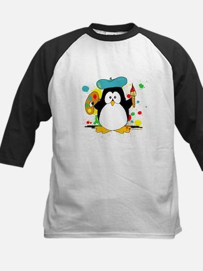 Artistic Penguin Kids Baseball Jersey