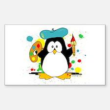 Artistic Penguin Decal