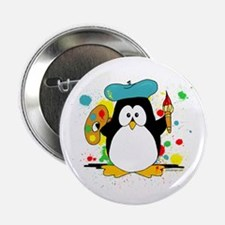 "Artistic Penguin 2.25"" Button (10 pack)"
