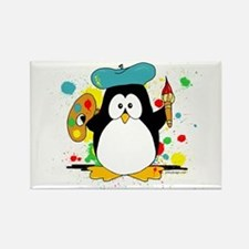 Artistic Penguin Rectangle Magnet