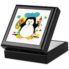 Artistic Penguin Keepsake Box