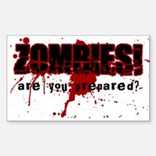 Zombie Ready Rectangle Decal