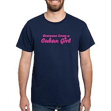 Everyone Loves a Cuban Girl Black T-Shirt