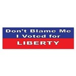 Voted for Liberty Bumper Sticker (10 pk)