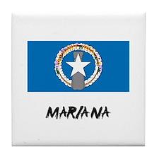 Mariana Flag Tile Coaster