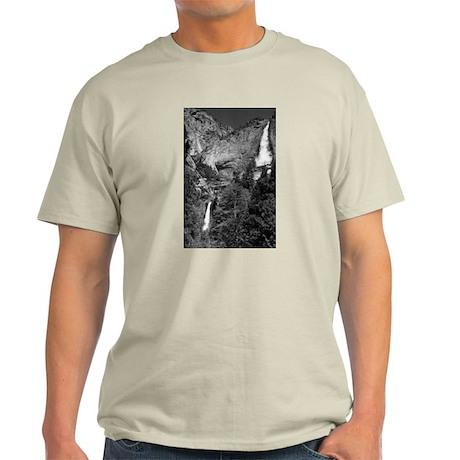 Yosemite Falls B&W Ash Grey T-Shirt