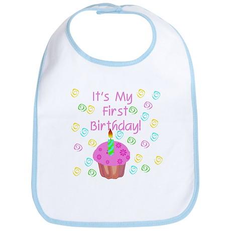 Cupcake First Birthday (Pink) Bib