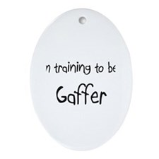 I'm training to be a Gaffer Oval Ornament