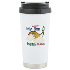 Brightens World 1 (A Son) Travel Mug