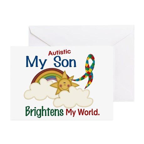 Brightens World 1 (A Son) Greeting Cards (Pk of 10