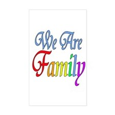 We Are Family Rectangle Decal