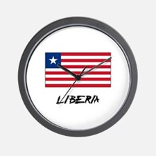 Liberia Flag Wall Clock