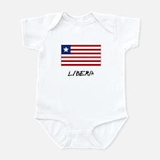 Liberia Flag Infant Bodysuit