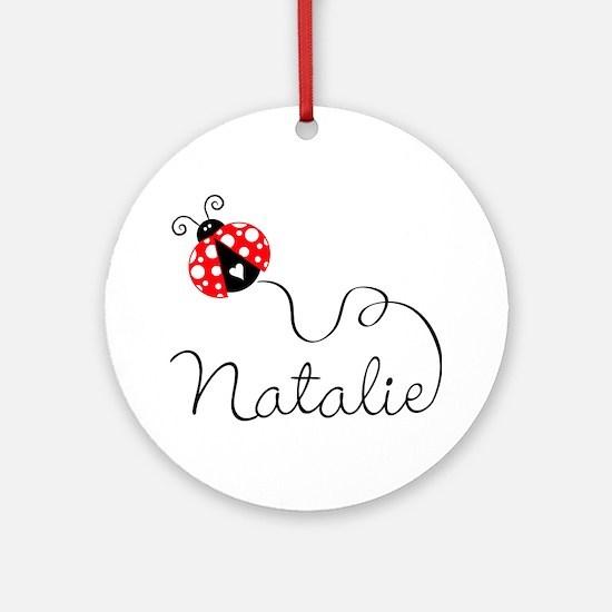 Ladybug Natalie Ornament (Round)