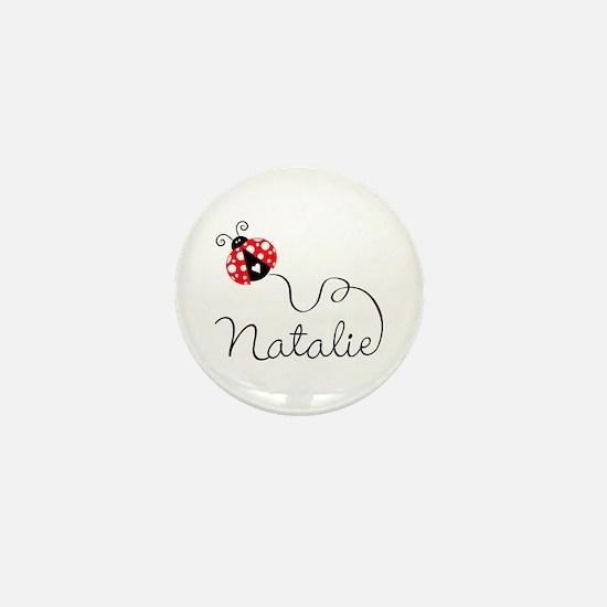 Ladybug Natalie Mini Button
