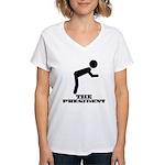 Bow Women's V-Neck T-Shirt