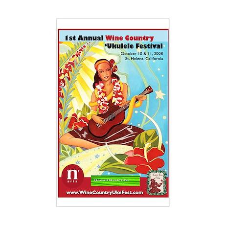 2008 Wine Country 'Uke Fest Sticker