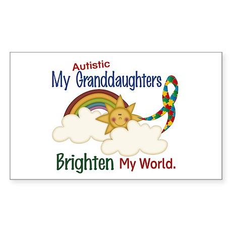 Brighten World 1 (A Granddaughters) Sticker (Recta