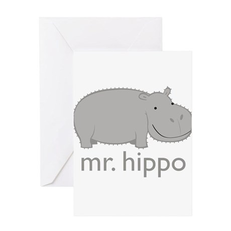 hippo1 Greeting Cards