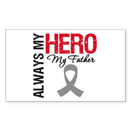 BrainCancerHero Father Rectangle Sticker