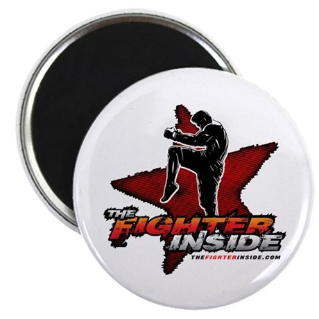 "TheFighterInside.com 2.25"" Magnet (100 pack)"
