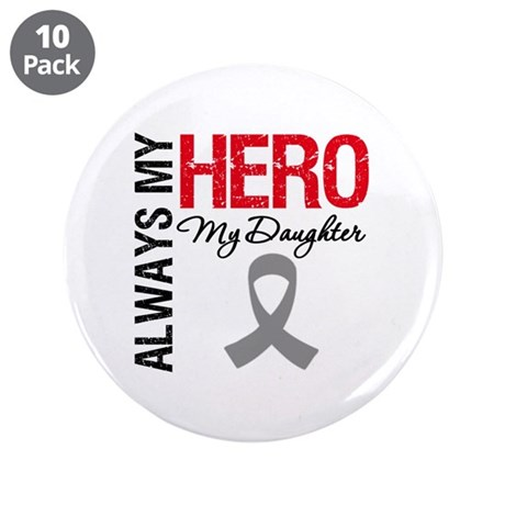 """Brain Cancer Daughter 3.5"""" Button (10 pack)"""