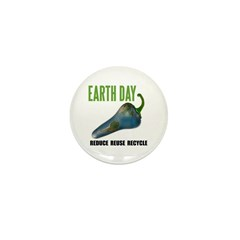 Earth Day Global Warming Mini Button (10 pack)
